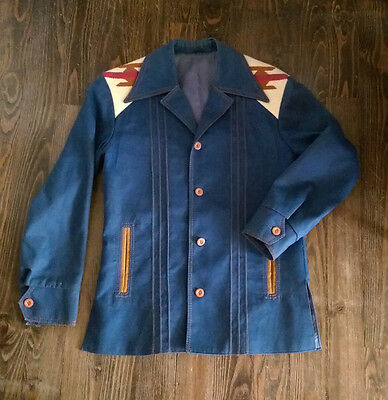 VTG* 1970's Pioneer Wear Chimayo jacket* size mens 38* womens M* rare*