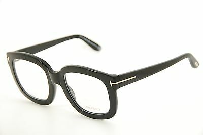 New Authentic Tom Ford TF 5315 001 Black/Silver 53mm Italy Frames Eyeglasses RX