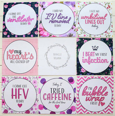 """Premmie Milestone Cards """"It's A Girl"""" Micro Extra Cards"""