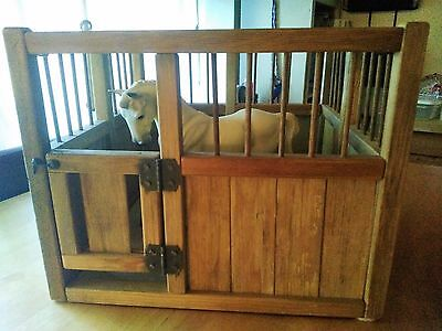 Wooden Box Stall for Model Horses- Breyer Horse Not Included