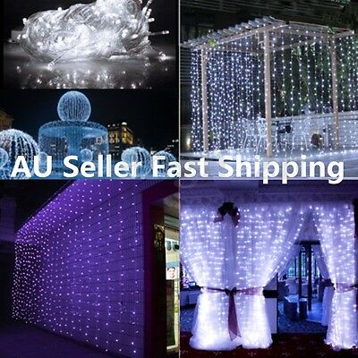3Mx3M LED White Bulb Fairy String Light Lamp Holiday Wedding Party Decor Outdoor