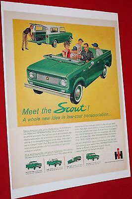 Vintage Ad from Life magazine 1961 Scout by International Harvester