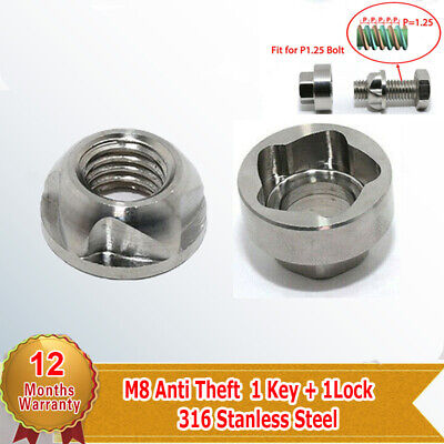 1 Set 8mm Anti Theft Security Lock Nut Key For Led Light Bar Lamp Universal