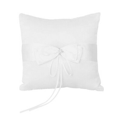 Wedding Ring Pillow Cushion Bearer Embellished with Faux Pearl Satin---Ivor O6N2
