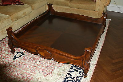 Large Antique Wood Coffee Table Carved and Veneer wood Louis XIII,XIV, XV, XVI