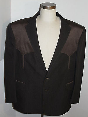New Men's Pagano West Sport Coat! Brown! Western Style/cowboy! Made In Usa! 52