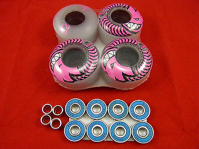 4 x SPITFIRE 54MM/80HD Chargers Classic Skateboard Wheels + ABEC 11'S