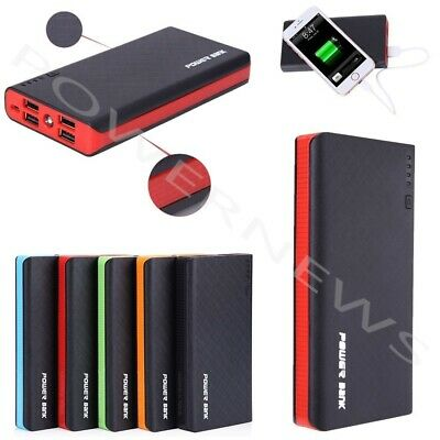 POWERNEWS 4 USB 300000mAh Power Bank LED External Backup Battery Charger F Phone