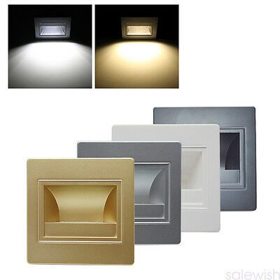 Modern 1W Led Footlight Square Wall Light Lamp For Stairs Step Corner Decor