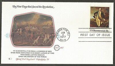 Us Fdc 1977 Revolution-The Battle Of Princeton Bicentennial 13C Cover C