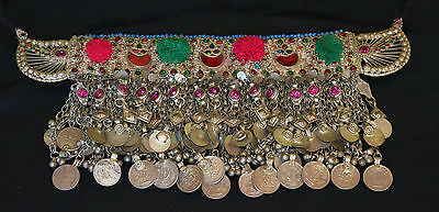 Heavy Genuine Old Uzbek Tribal Silver Head Jewellery Head Decoration