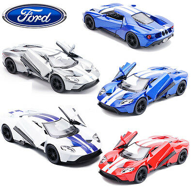 Licensed Ford GT Diecast Model 2017 Sport Edition Car Kids Pull Back Vehicle Toy