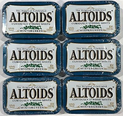 903615 6 x 50g TINS OF ALTOIDS CURIOUSLY STRONG MINTS, WINTERGREEN FLAVORED! USA