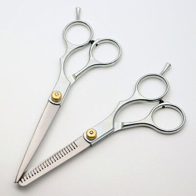 "6"" Professional Hair Cutting Thinning Scissors Shears Hairdressing Set Salon OZ"