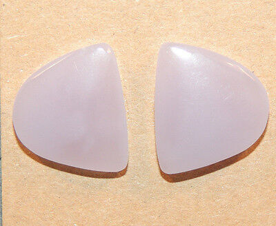 Yttrium Fluorite Cabochons 18x16mm with 5mm dome set of 2 (12334)