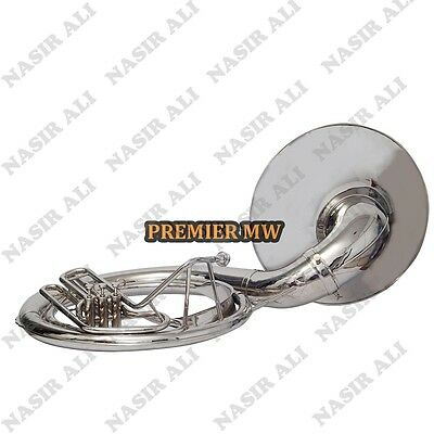 """Sousaphone Big Bell 25"""" B-Flat Black Nickel Silver For Sale With Free Bag + Mp"""