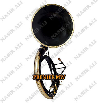 """Sousaphone Big Bell 25"""" B-Flat Black Lacquered For Sale With Free Carry Bag + Mp"""