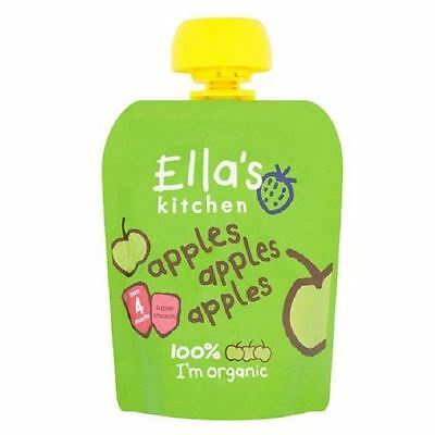 Ella's Kitchen Apples Apples Apples from 4m 70g pouch 1 2 3 6 Packs