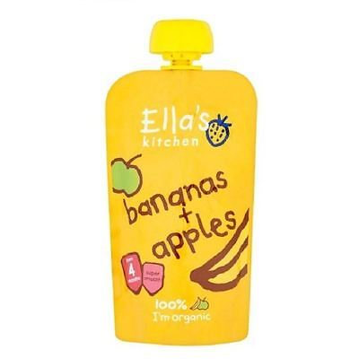 Ella's Kitchen Bananas & Apples From 4m 120g Pouch 1 2 3 6 Packs
