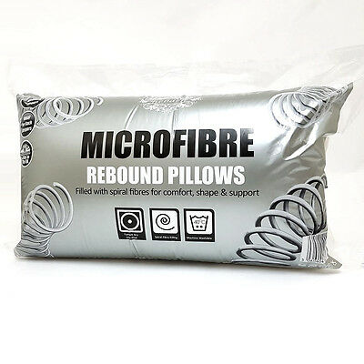 Pack of 2, 4 or 8 Microfibre Rebound Pillows Hotel Quality