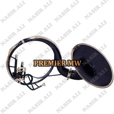 """SUMMER SALE SOUSAPHONE Bb PITCH BLACK LACQUER 21"""" BELL WITH FREE CARRY BAG + MP"""