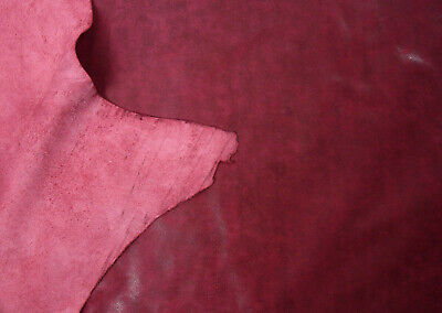 Buffed cowhide side leather Satin finish Supple BARKERS N227 Red
