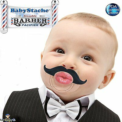 BabyStache Kissable Baby Pacifier Cute & Funny Mustache Pacifier Silicone Infant