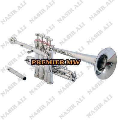 Piccolo Trumpet B-Flat Nickel Silver W/ Free Hard Case And Mouth Piece