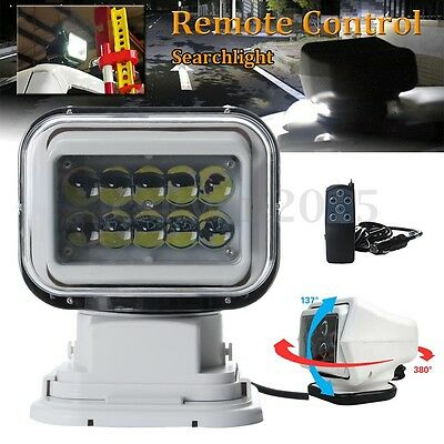 360° 50W LED Marine Boat Truck Car Remote Control Wireless Spotlight Searchlight
