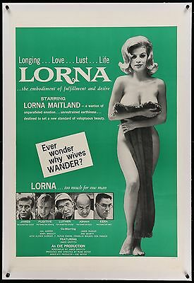 LORNA - original film / movie poster - linen backed ready to frame