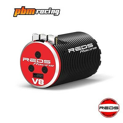 REDS Racing V8 2100kv 1/8 4 Pole Sensored Brushless RC Motor REDMTEG0002