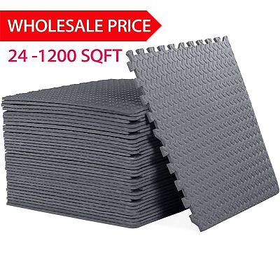 Lot 24-1200 Sq Ft Interlocking Eva Foam Floor Puzzle Work Gym Mats Puzzle Mat