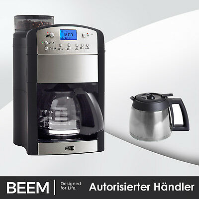 BEEM Fresh Aroma Perfect DUO Edelstahl Kaffeautomat Mahlwerk Thermostat Timer
