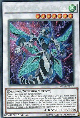 MP16 - EN022 CLEAR WING SYNCHRO DRAGON  - SECRET RARE  1st EDITION