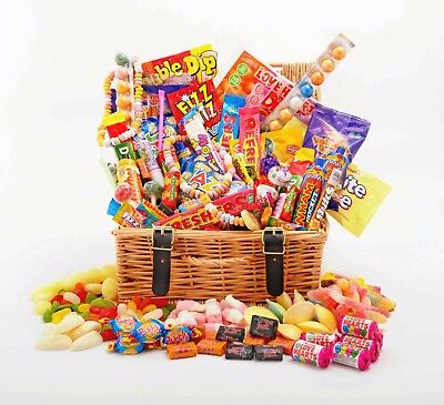 Sweet Hamper Gift Box Retro Mix Sweets Choose Size Birthday Thank You Easter