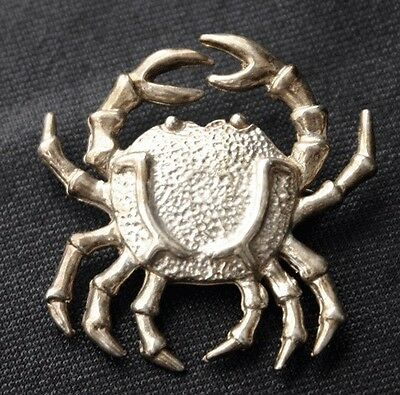 Vintage MEXICO STERLING Crab Pin Brooch