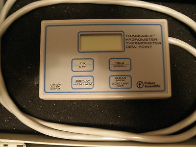 Used Fisher Scientific 11-661-16 Digital Hygrometer Thermometer Dew Point Unit