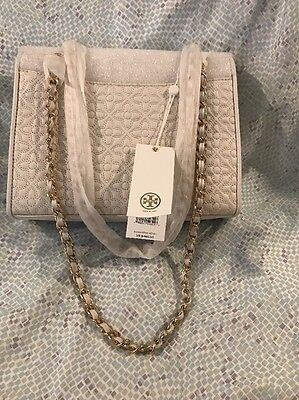 b51390f224e3 TORY BURCH BRYANT QUILTED MEDIUM SHOULDER BAG.New Ivory R.price  465 ...
