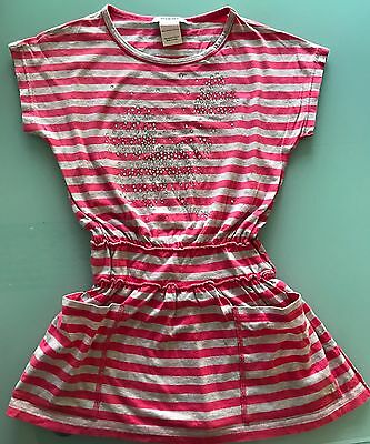 b58fc43d599 Adorable SONIA RYKIEL ENFANT Girls Striped S S Dress with Diamonds 6 ans