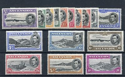 Ascension 1938-53 set SG38b/47a - all MNH bar SG39 & SG42 which are MLH