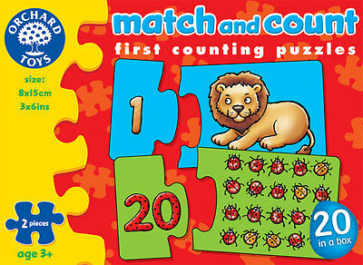 Orchard Toys Match and Count Picture Puzzle Card Game for Children – NEW