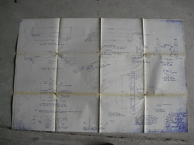Vintage Little Engines Wheels Axles and Crank Pins Blueprint LOOK