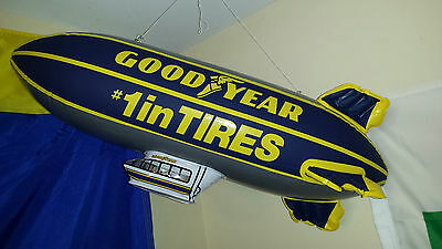 "Collectible Goodyear Blimp 24"" long  Inflatable sign  tire racing Nascar"