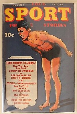 True Sport Picture Stories Vol. 3 #2 (Aug 1945, Street and Smith) VG+