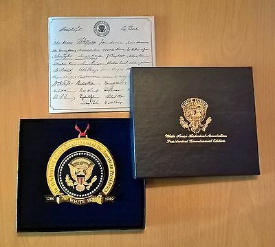 1989 White House Historical Christmas Ornament Presidential Seal - Bicentenery