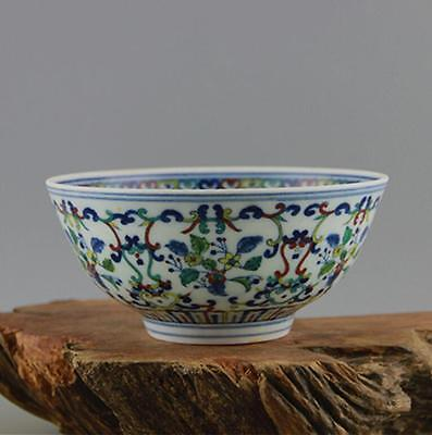 Chinese Qing Yongzheng official kiln bucket color flower thin porcelain bowl