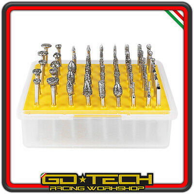 Set 50 Tips Diamond Cut Grated 40 Coarse 3mm Cutter Straight Dremel Roughing