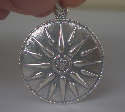 Star of Macedonia Silver Pendant - Alexander the Great King - Vergina Sun