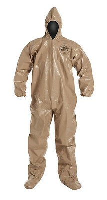 DUPONT C3122TTN3X000600 Tychem CPF3 Chemical / NBC Chem Suit w/Hood & Boots NEW