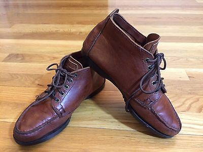Vintage Eastland Women's Brown Leather Chukka Ankle Boot Shoe Lace-up Size 7